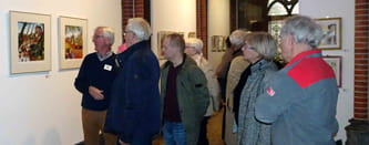 kunst expositie, art exhibition